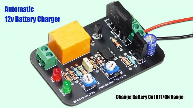 Automatic 12v Battery Charger Circuit | Auto Cut OFF & ON