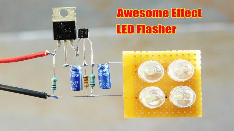 Amazing Effect LED Flasher Circuit Using Transistor