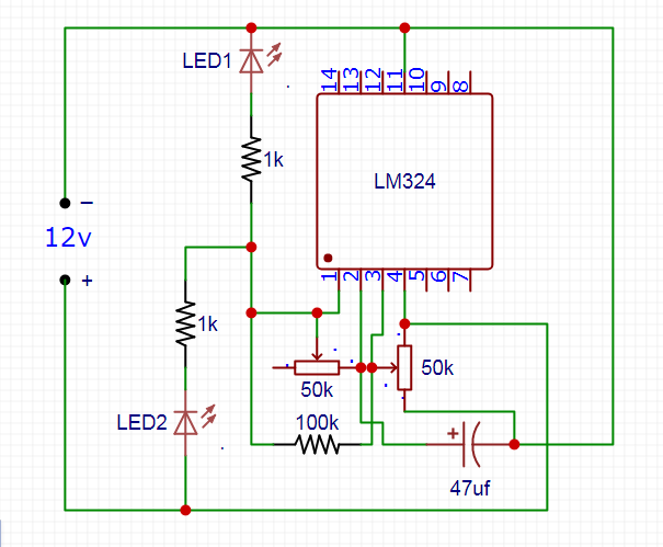 dual led flasher lm324